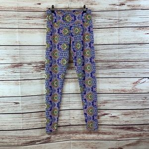 Onzie Fun Printed Athletic Leggings  Sz M/L